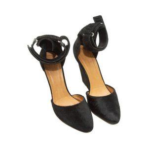 Black Isabel Marant Ponyhair & Suede Wedge Heels